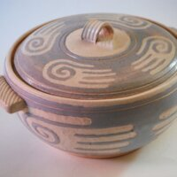 Blue Hands Casserole by Bud Sents